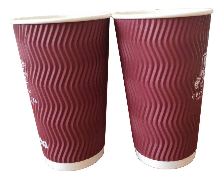 压痕咖啡杯